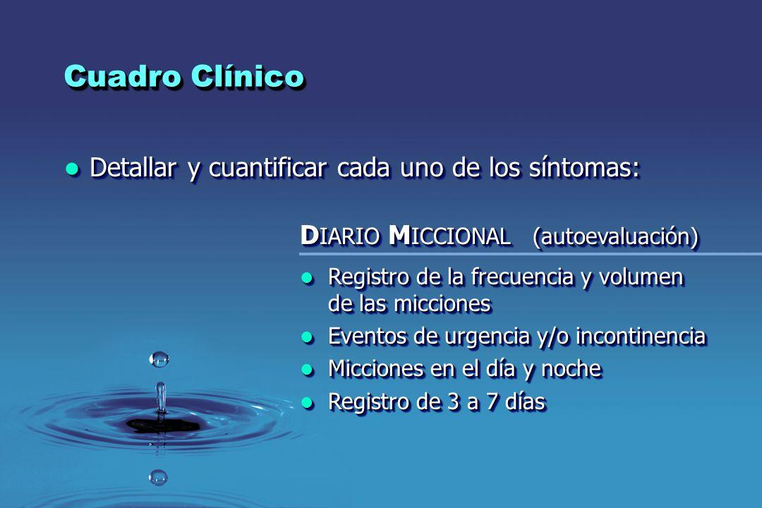 Cuadro Clínico Detallar y cuantificar cada uno de los síntomas: