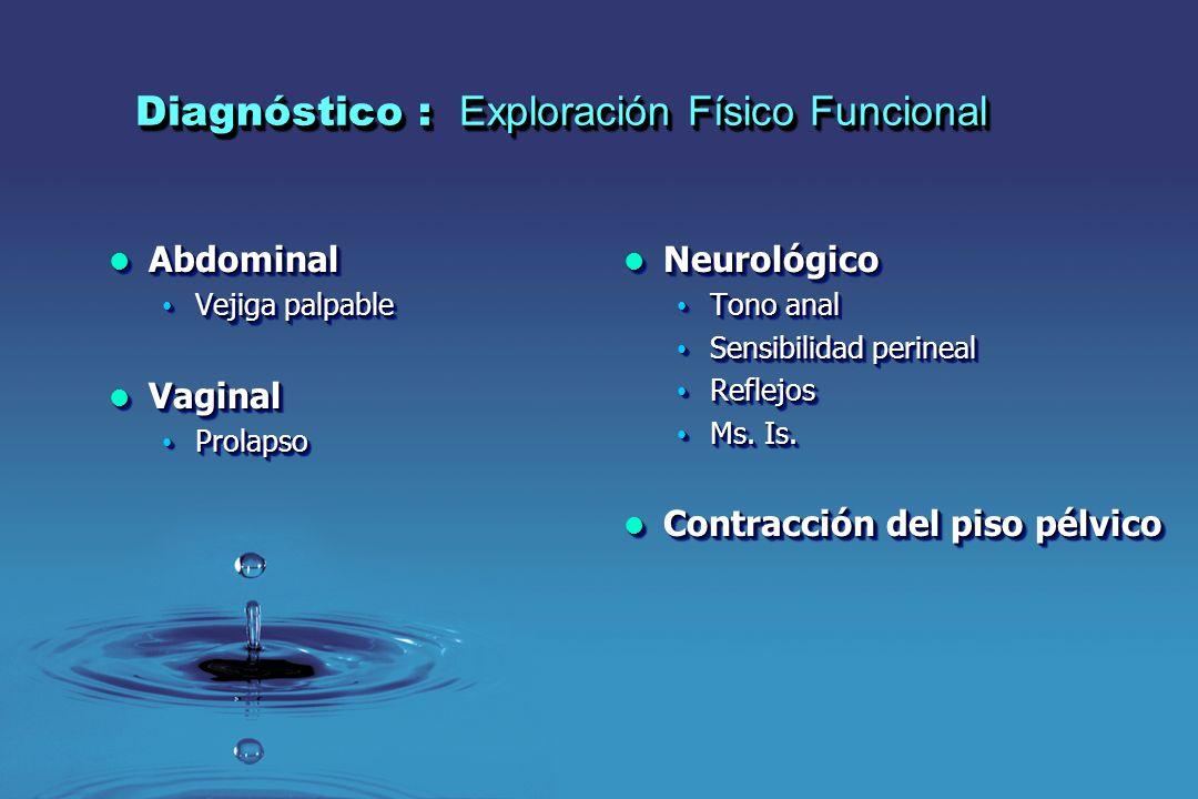 Diagnóstico : Exploración Físico Funcional
