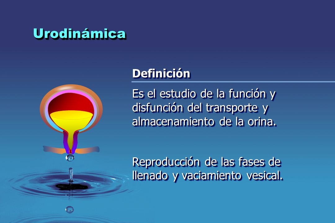 Urodinámica Definición