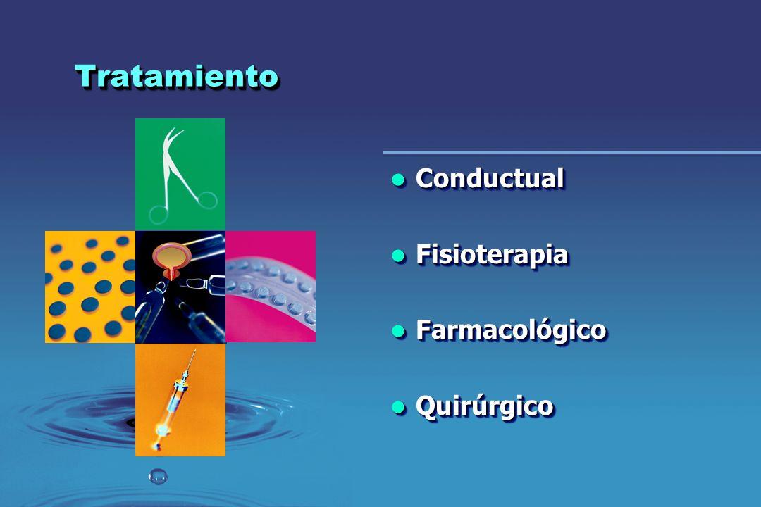 Tratamiento Conductual Fisioterapia Farmacológico Quirúrgico