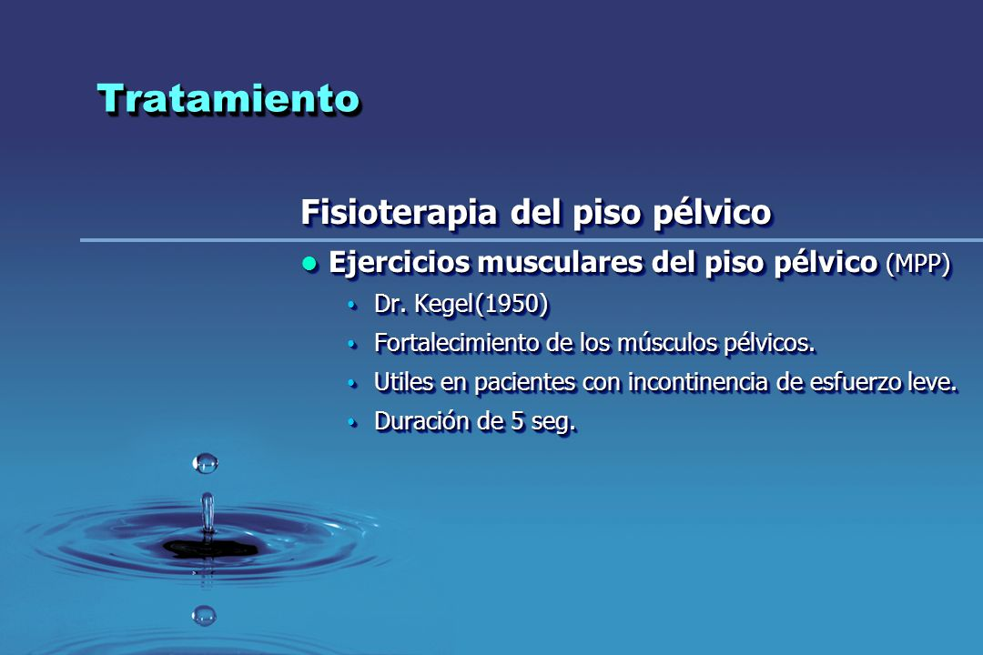 Tratamiento Fisioterapia del piso pélvico