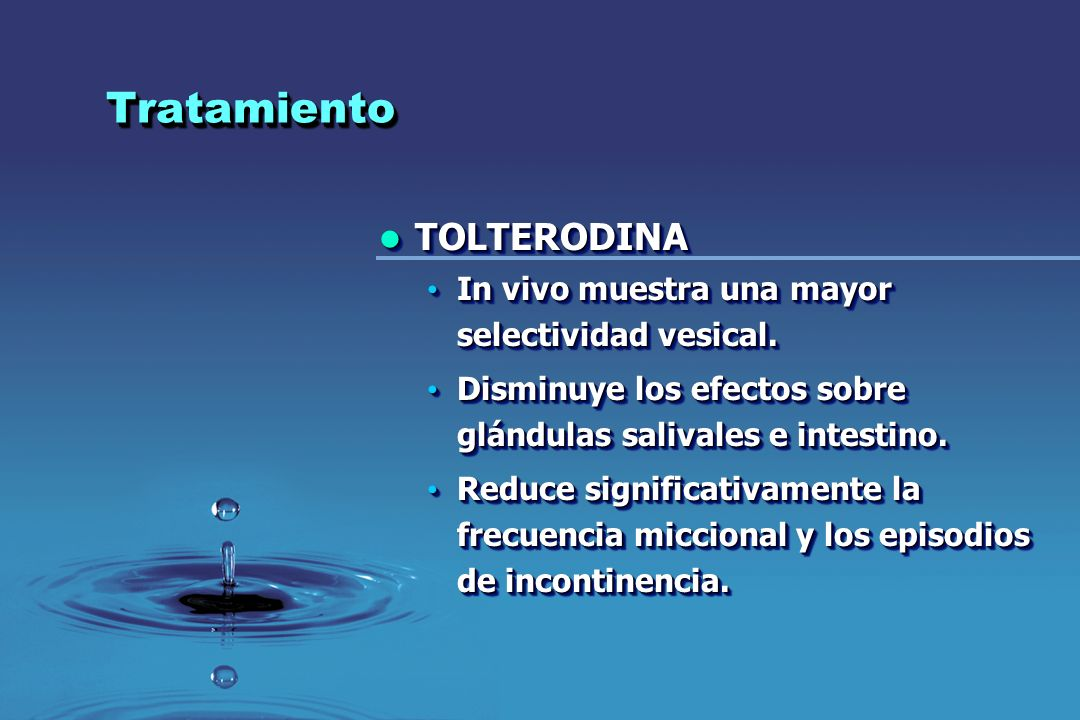 Tratamiento TOLTERODINA