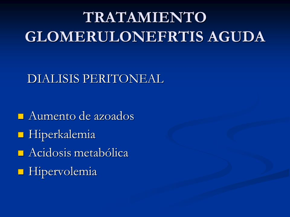 TRATAMIENTO GLOMERULONEFRTIS AGUDA