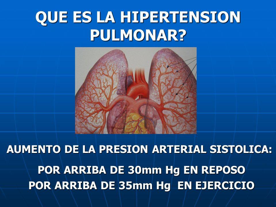 QUE ES LA HIPERTENSION PULMONAR