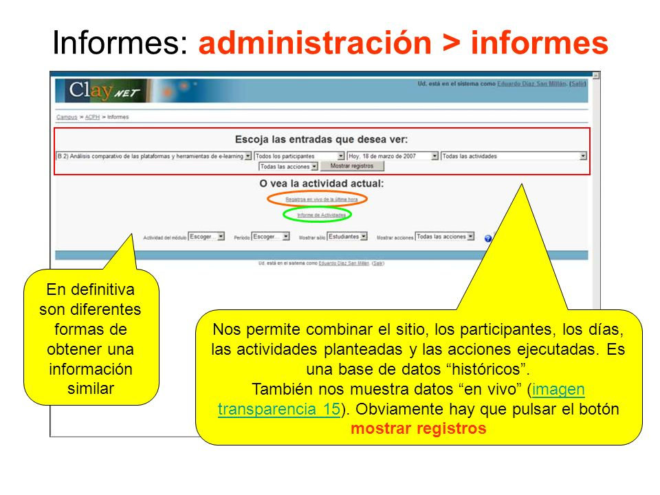 Informes: administración > informes