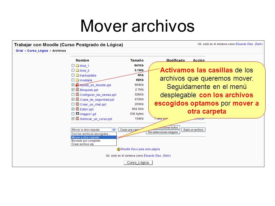 Mover archivos