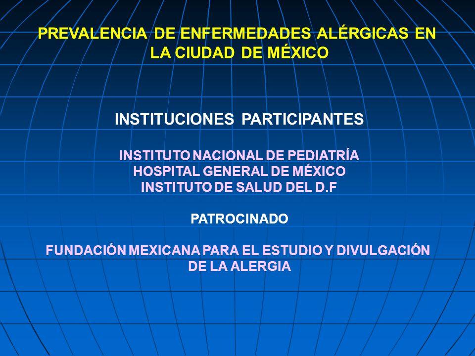 PREVALENCIA DE ENFERMEDADES ALÉRGICAS EN LA CIUDAD DE MÉXICO