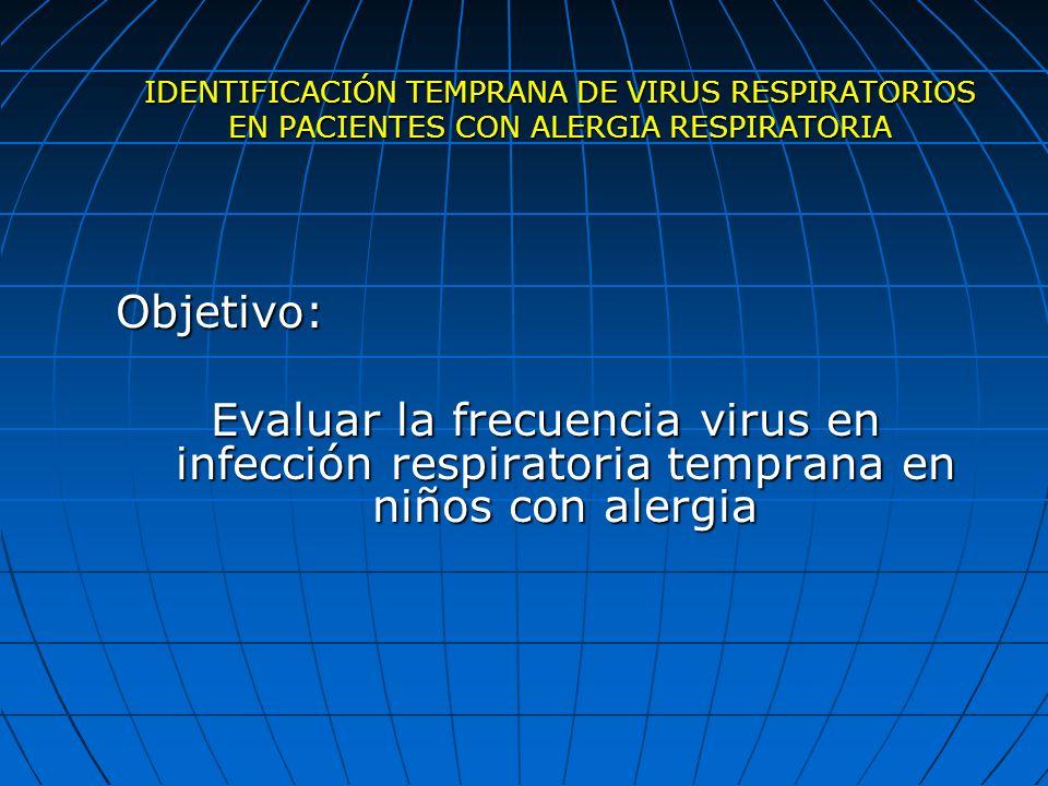 IDENTIFICACIÓN TEMPRANA DE VIRUS RESPIRATORIOS EN PACIENTES CON ALERGIA RESPIRATORIA