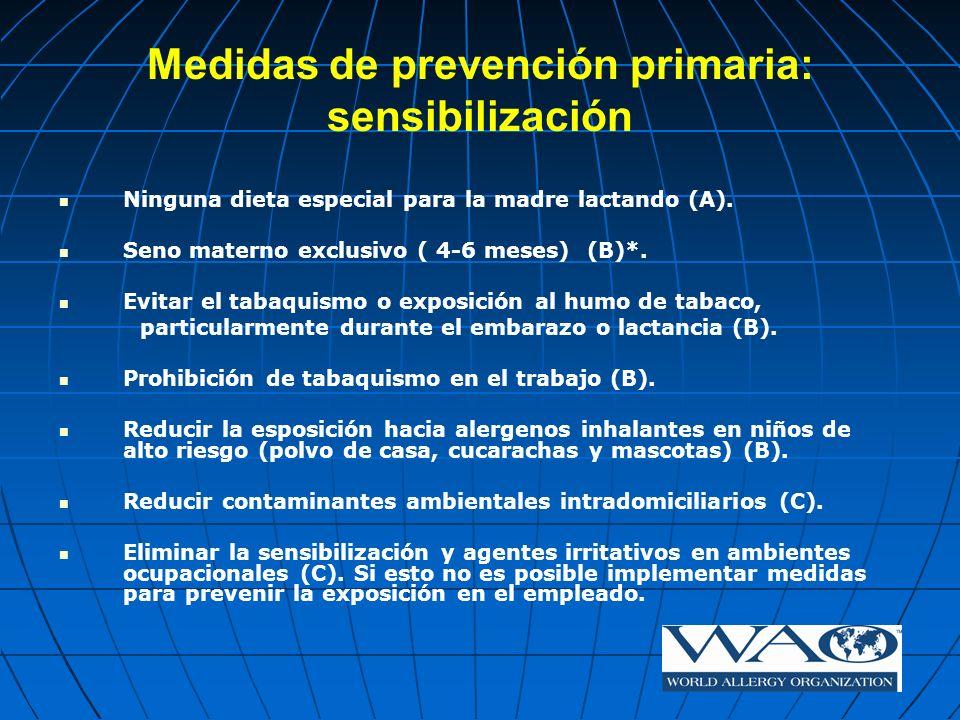 Medidas de prevención primaria: sensibilización