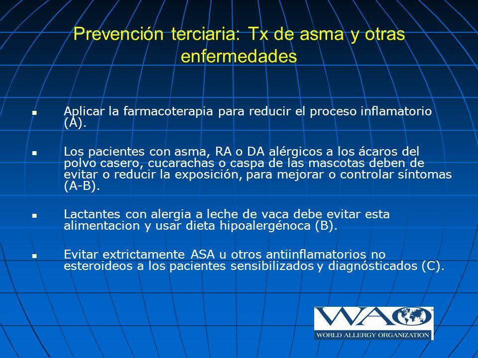 Prevención terciaria: Tx de asma y otras enfermedades