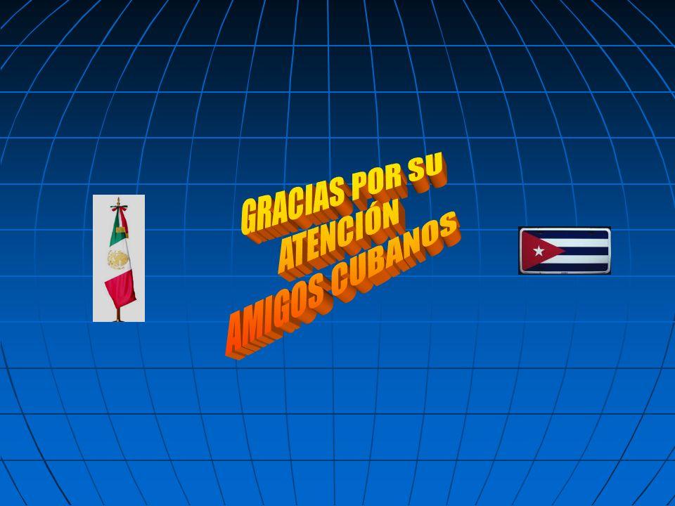 GRACIAS POR SU ATENCIÓN AMIGOS CUBANOS