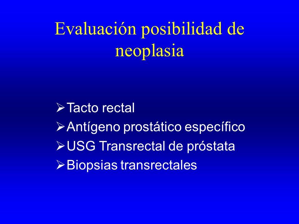 Evaluación posibilidad de neoplasia