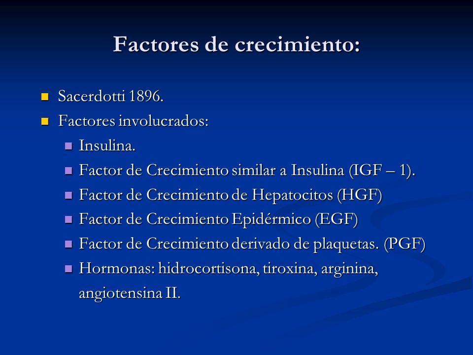 Factores de crecimiento: