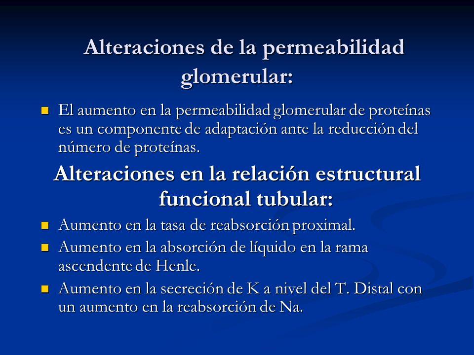 Alteraciones de la permeabilidad glomerular: