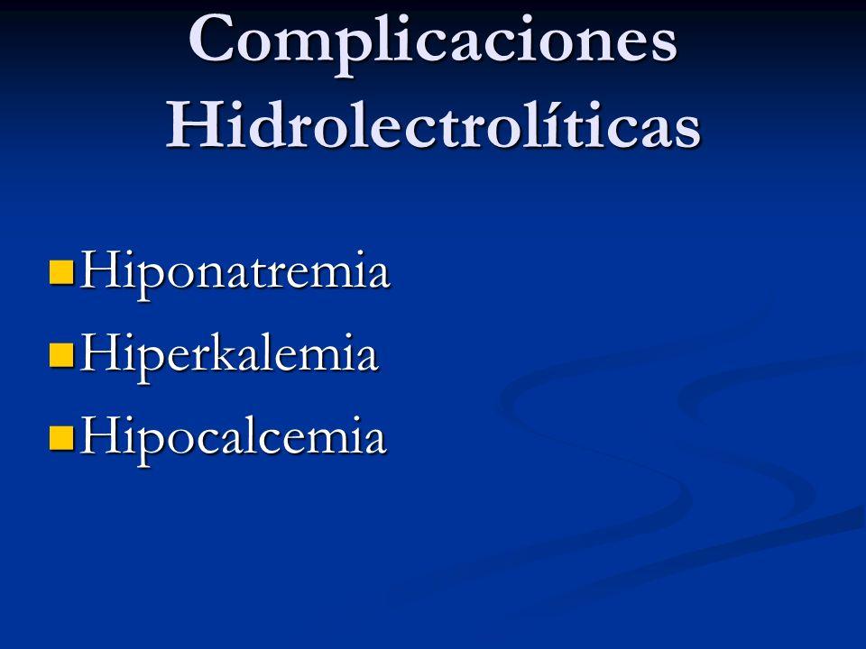 Complicaciones Hidrolectrolíticas