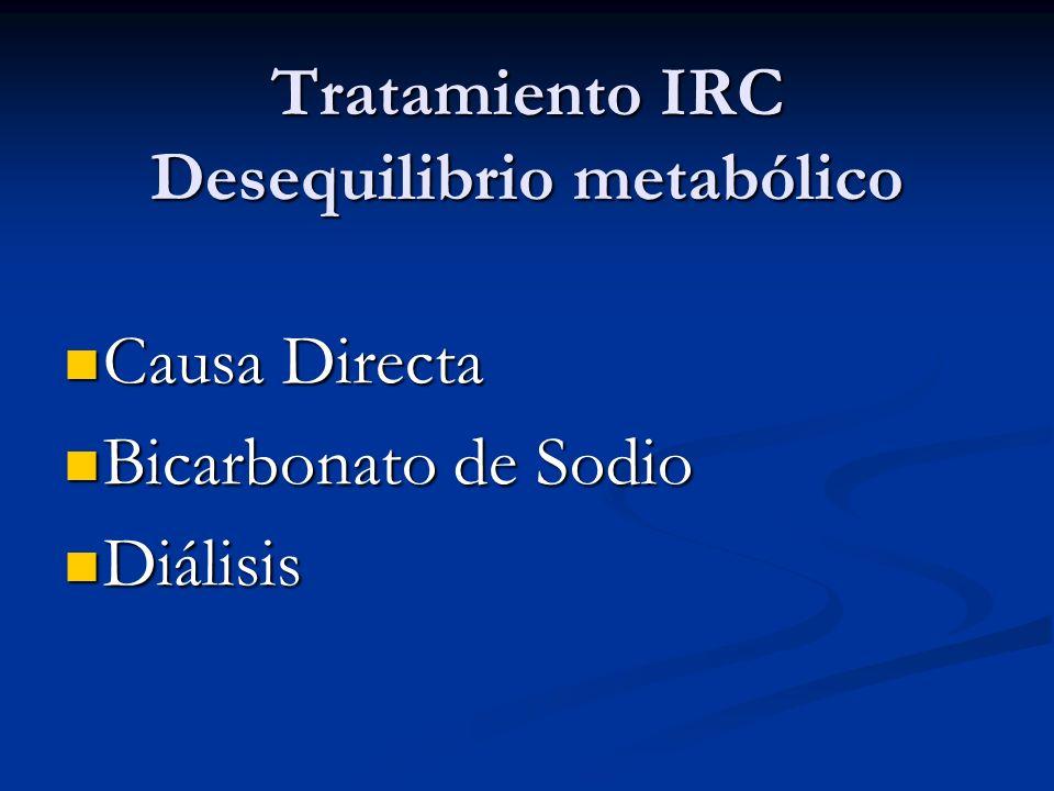 Tratamiento IRC Desequilibrio metabólico