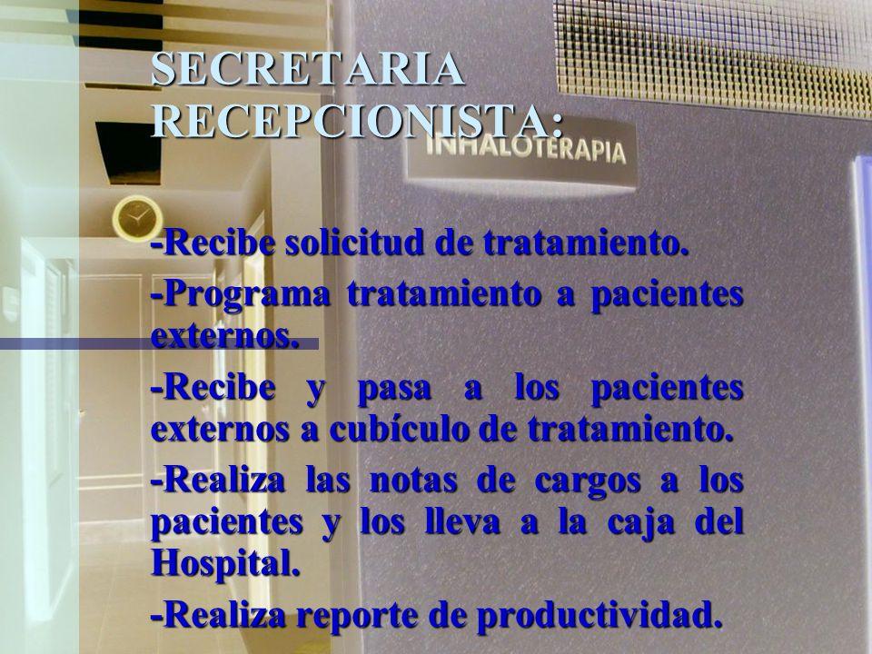 SECRETARIA RECEPCIONISTA:
