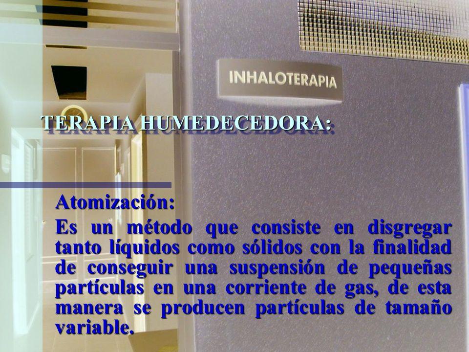 TERAPIA HUMEDECEDORA: