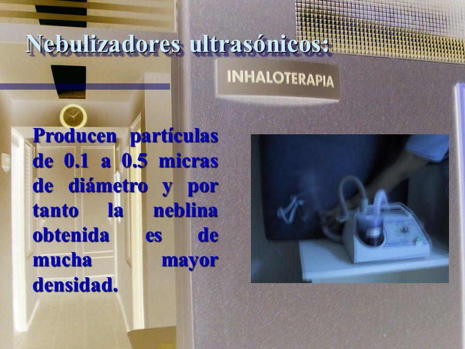 Nebulizadores ultrasónicos: