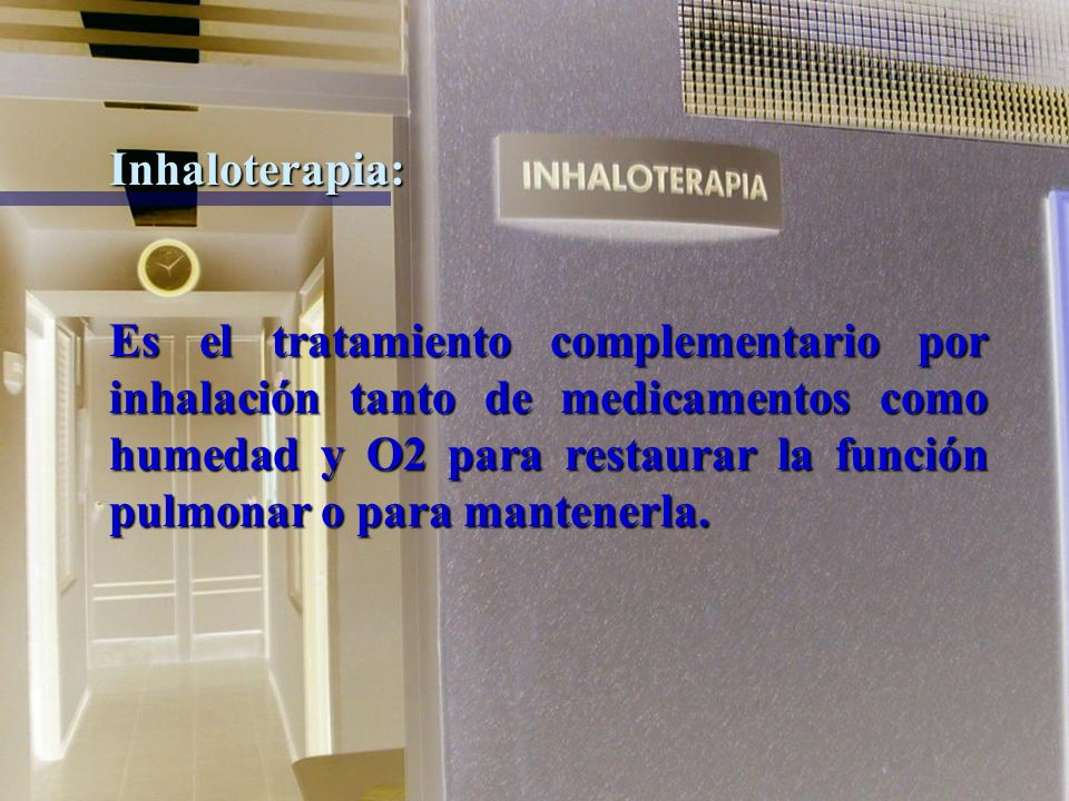 Inhaloterapia: