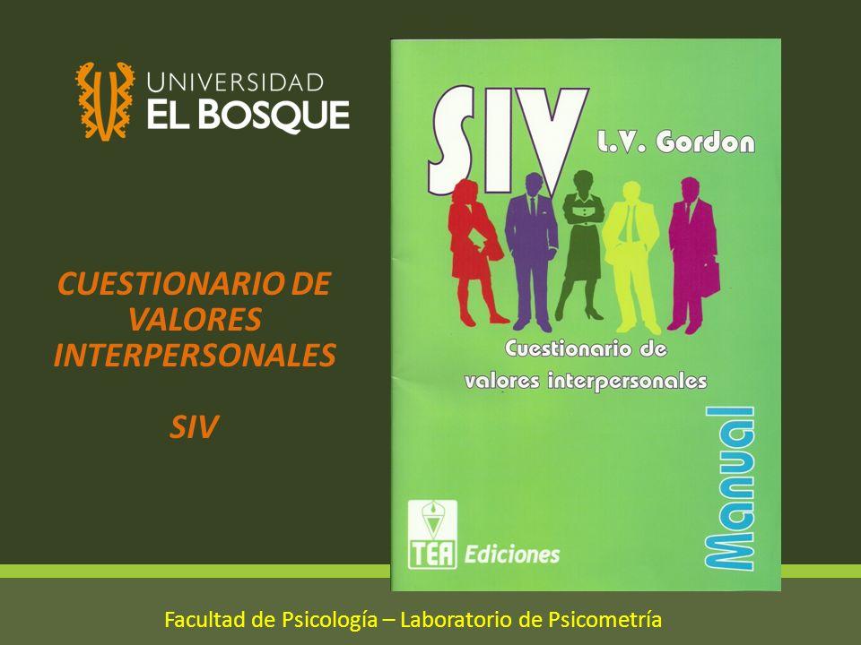 CUESTIONARIO DE VALORES INTERPERSONALES SIV