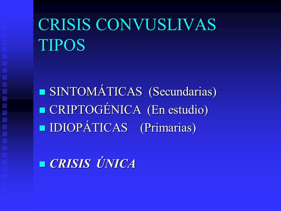 CRISIS CONVUSLIVAS TIPOS