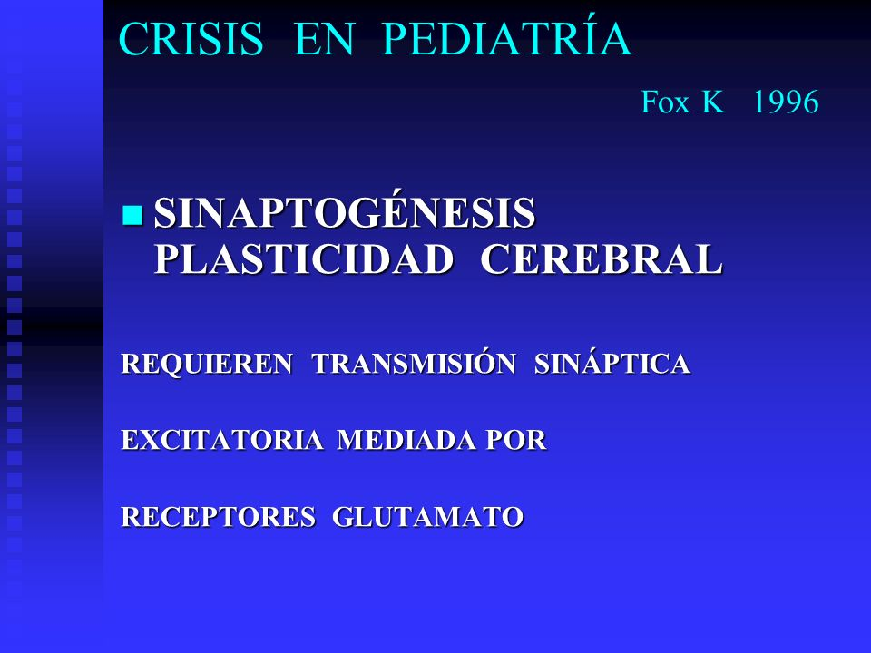 CRISIS EN PEDIATRÍA Fox K 1996