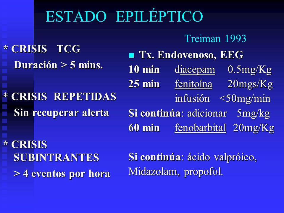 ESTADO EPILÉPTICO Treiman 1993