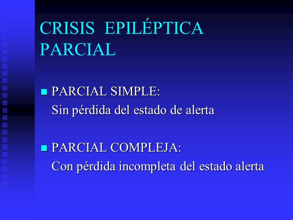 CRISIS EPILÉPTICA PARCIAL