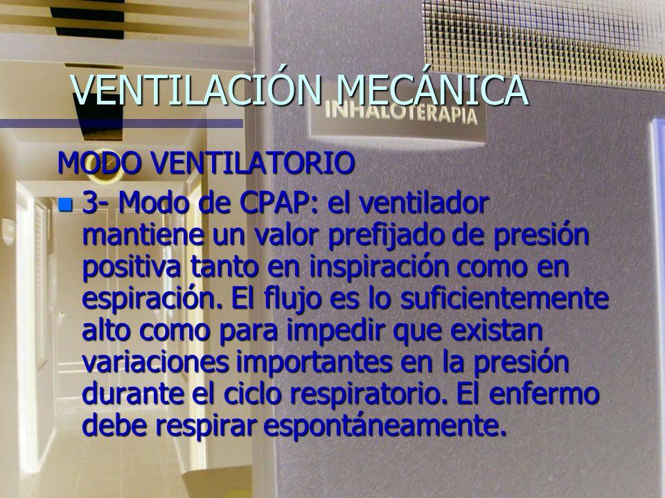 VENTILACIÓN MECÁNICA MODO VENTILATORIO
