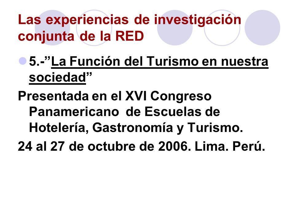 Las experiencias de investigación conjunta de la RED