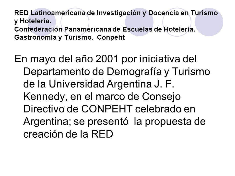 RED Latinoamericana de Investigación y Docencia en Turismo y Hotelería