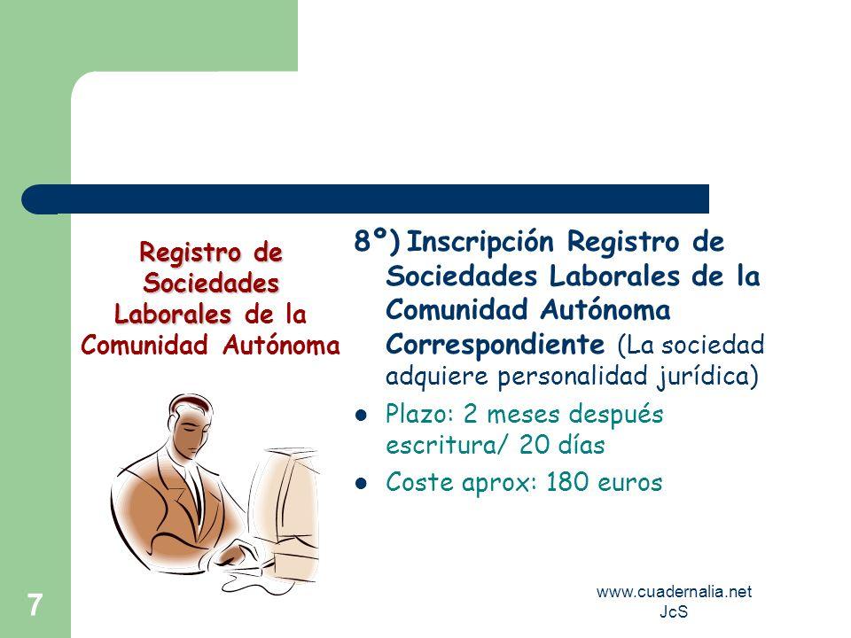 Registro de Sociedades Laborales de la Comunidad Autónoma