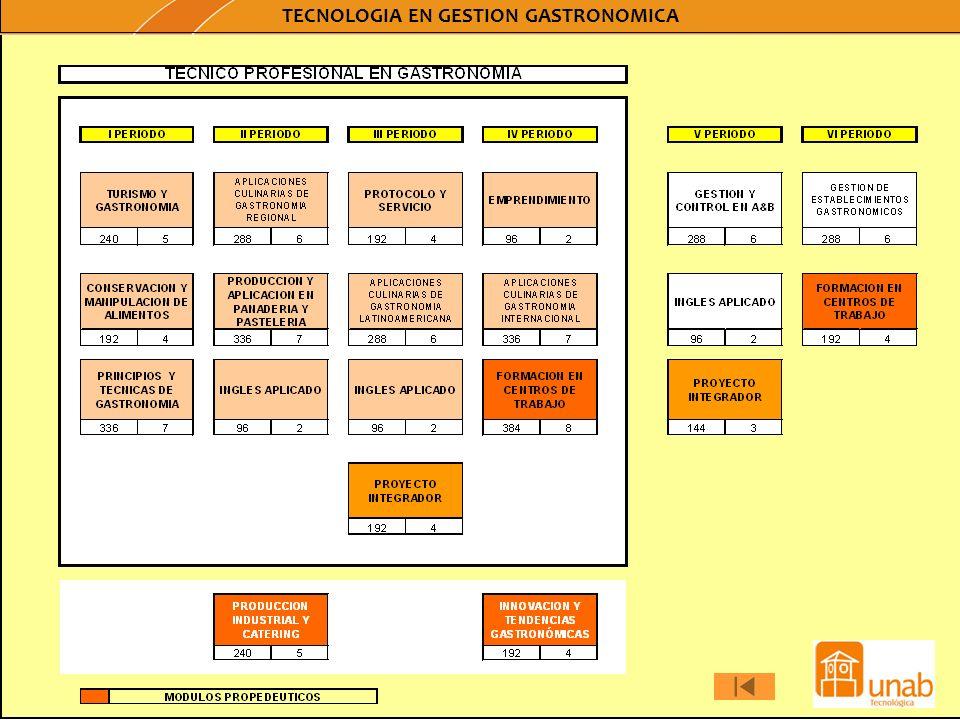 TECNOLOGIA EN GESTION GASTRONOMICA