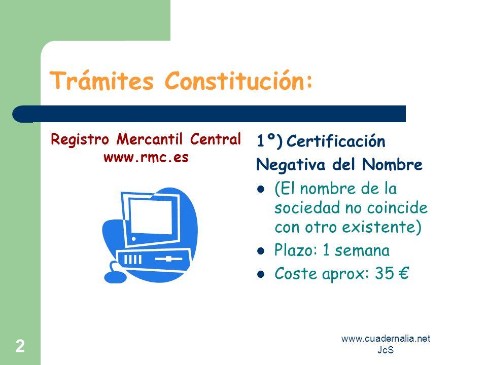 Trámites Constitución: