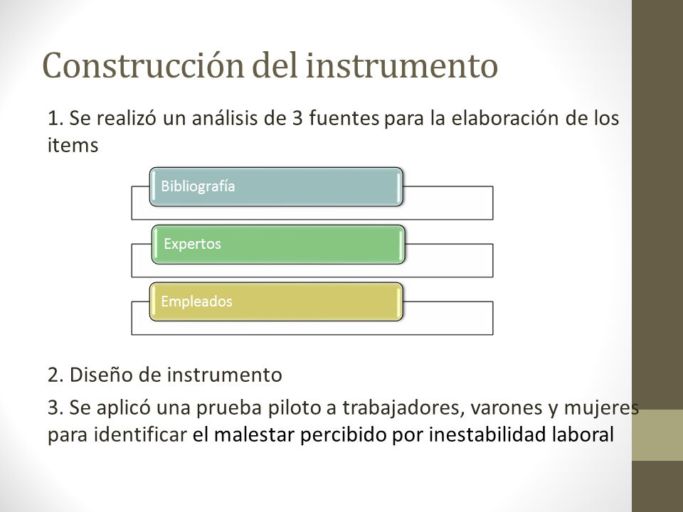 Construcción del instrumento