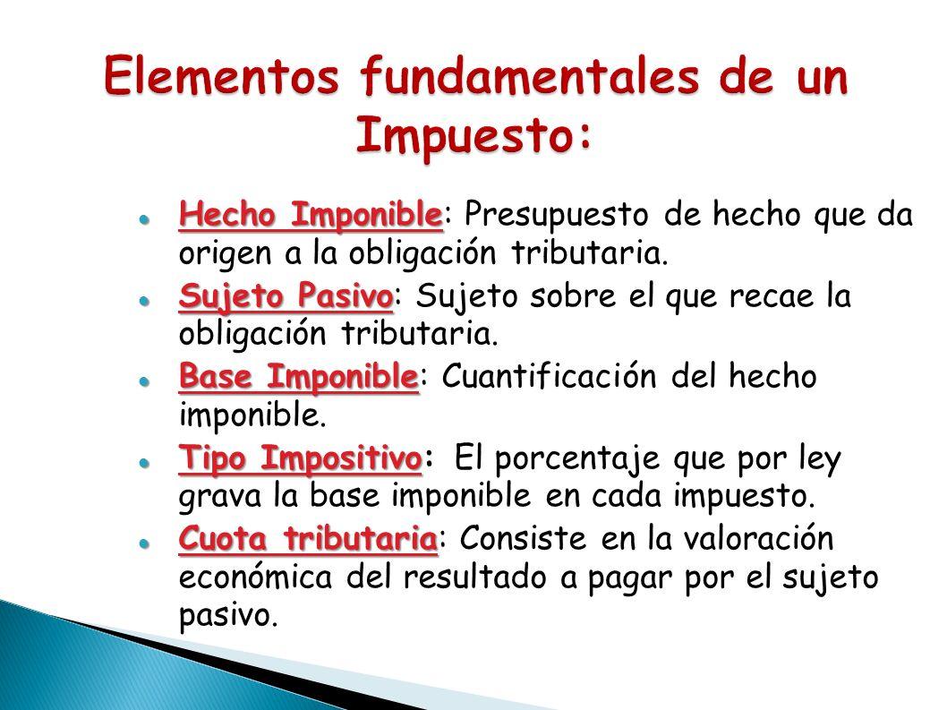 Elementos fundamentales de un Impuesto: