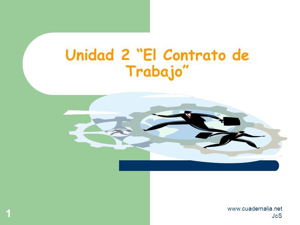 Unidad 2 El Contrato de Trabajo