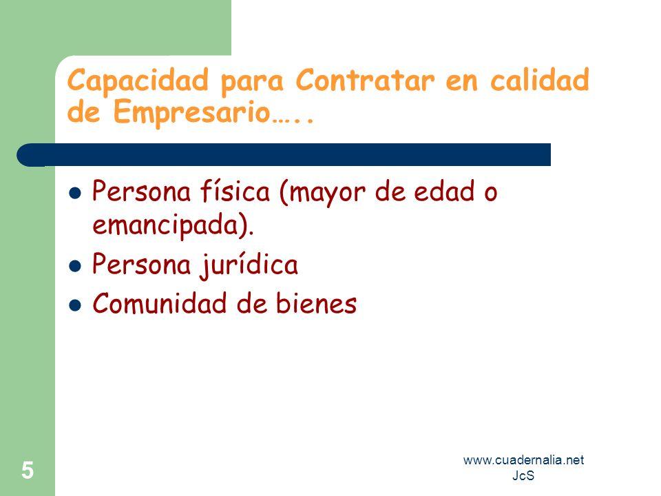Capacidad para Contratar en calidad de Empresario…..