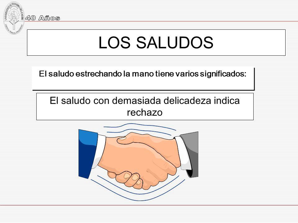 El saludo estrechando la mano tiene varios significados:
