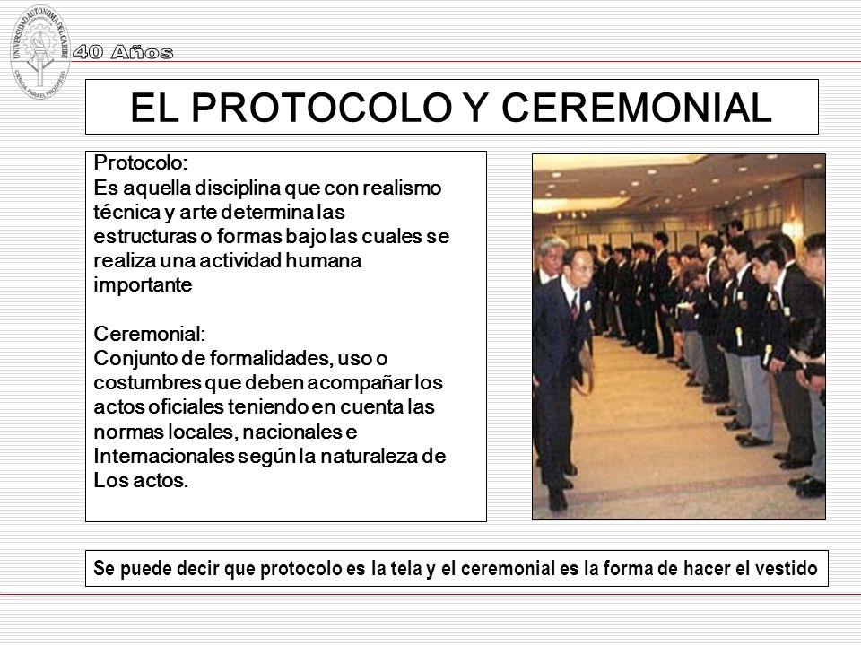 EL PROTOCOLO Y CEREMONIAL
