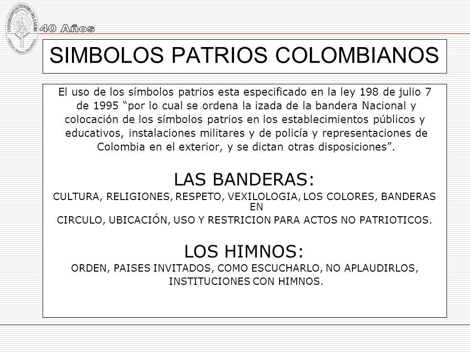 SIMBOLOS PATRIOS COLOMBIANOS