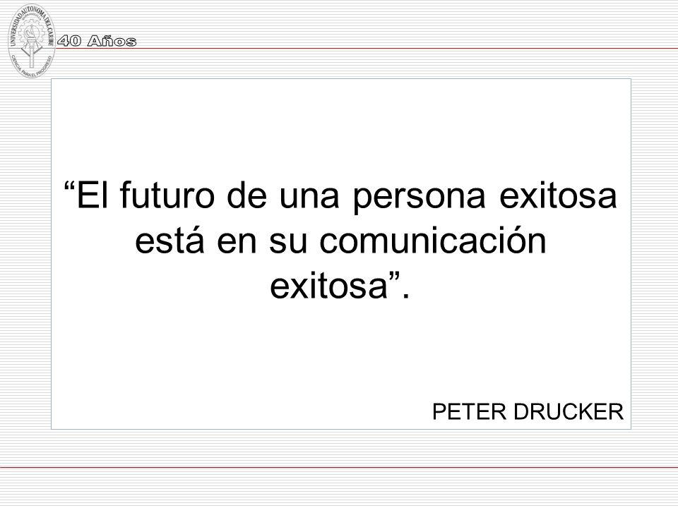 El futuro de una persona exitosa está en su comunicación exitosa .