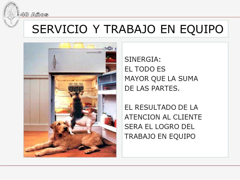 SERVICIO Y TRABAJO EN EQUIPO