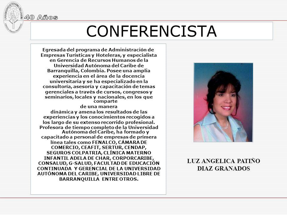 CONFERENCISTA LUZ ANGELICA PATIÑO DIAZ GRANADOS