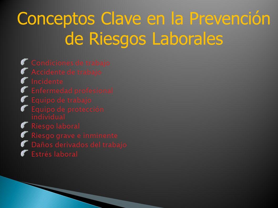 Conceptos Clave en la Prevención de Riesgos Laborales