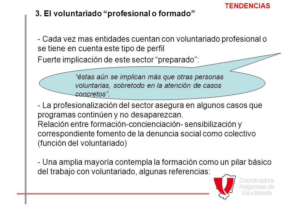 3. El voluntariado profesional o formado