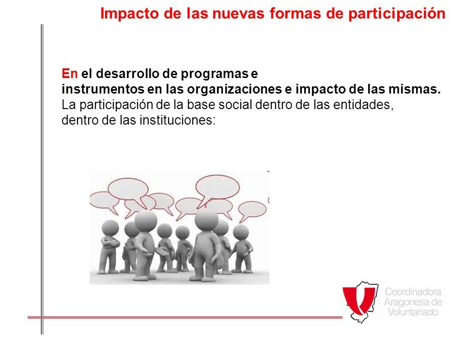 Impacto de las nuevas formas de participación