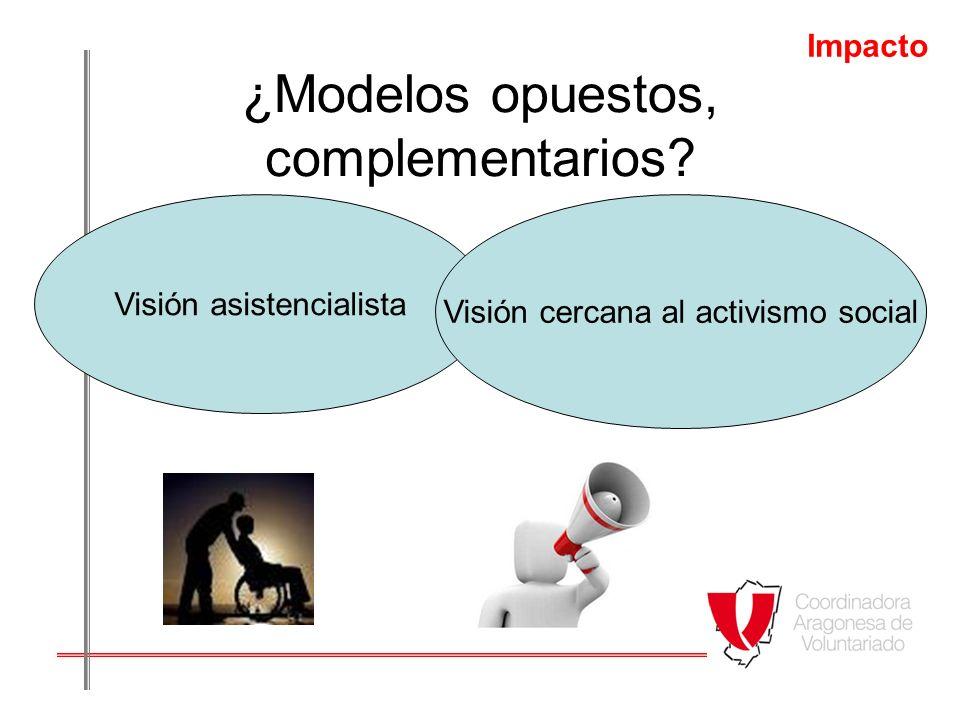 ¿Modelos opuestos, complementarios