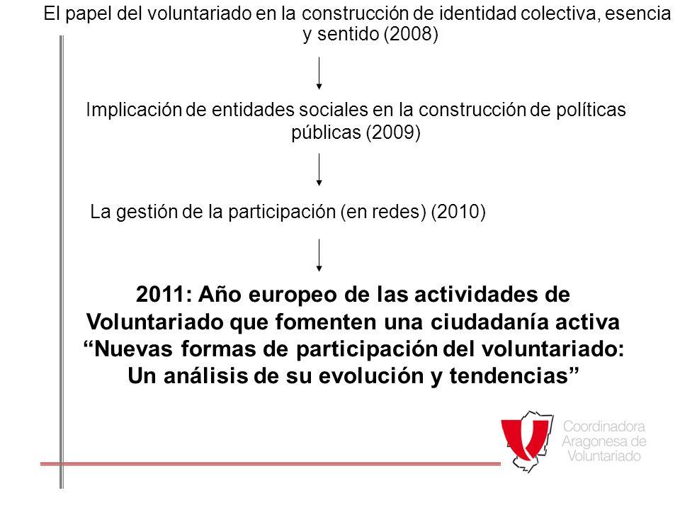 El papel del voluntariado en la construcción de identidad colectiva, esencia y sentido (2008)